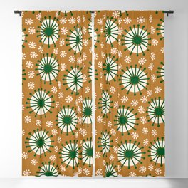 Carousel Amber Blackout Curtain