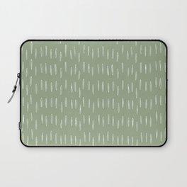 Raindrop Boho Abstract Pattern, Sage Green Laptop Sleeve