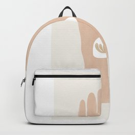 Botanical Hand Matisse Style   Soft Pink Backpack
