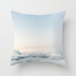 Airplane Clouds at Sunrise Throw Pillow
