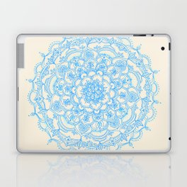 Pale Blue Pencil Pattern - hand drawn lace mandala Laptop & iPad Skin
