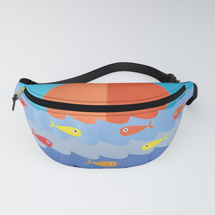 Fish fishing for friends Fanny Pack