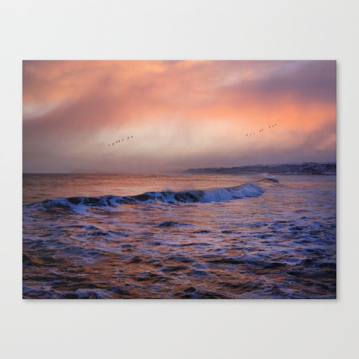 Morning on the coast Canvas Print