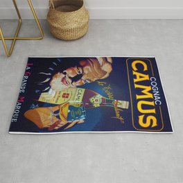 Vintage French Cognac Camus La Grand Marque Alcoholic Beverage Advertising Poster Rug