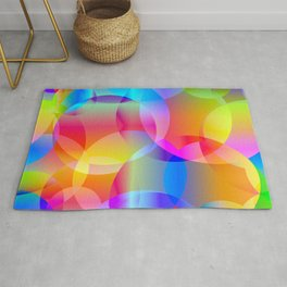 Soap bubbles for air mood. Rug