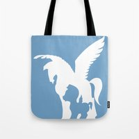 hercules Tote Bags featuring Hercules (no title) by Citron Vert