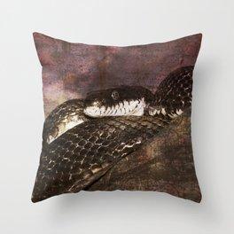 Snakestress At Large Throw Pillow