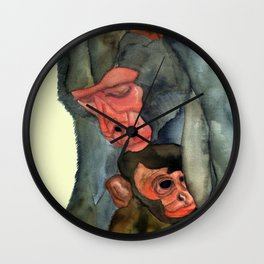 Motherly Protection Wall Clock