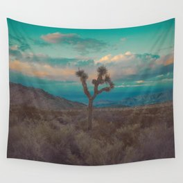 Joshua Tree Aqua Sunset Wall Tapestry