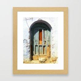 """""""Old Door"""" / Porte Vintage / by WHITEECO Ecologic design Framed Art Print"""