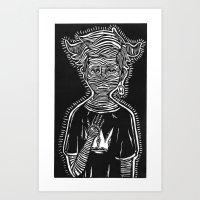 Evil Boy (black) Art Print