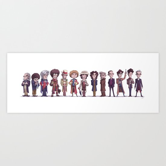 Thirteen Doctors Art Print