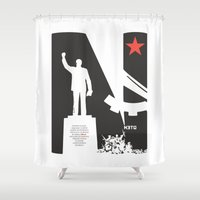 1975 Shower Curtains featuring Neto 11Nov 1975 by O ilusionista