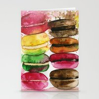 macarons Stationery Cards featuring macarons by Olga Gridneva