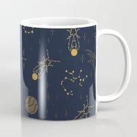 Golden Fireflies Constellations Mug