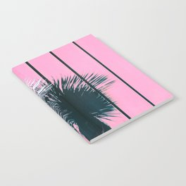 Yucca Plant in Front of Striped Pink Wall Notebook