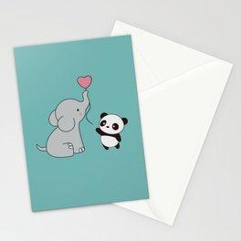 Kawaii Cute Elephant and Panda Stationery Cards