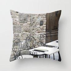 Cream Cafe - Tuscany Throw Pillow