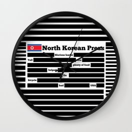 North Korea News Paper Wall Clock