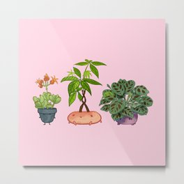 Potted Plant Critters 5 Metal Print