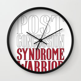 Post Concussion Syndrome Warrior Brain Injury Awareness Wall Clock