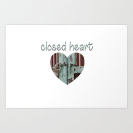 Closed art Illustration Art Print