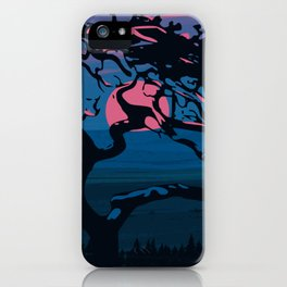 Dawn of the tree iPhone Case