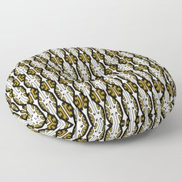 We Hold the Key 2- Gold the Digital Maori collection Floor Pillow