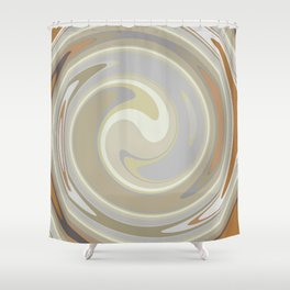 Distorted stripes in colour 3 Shower Curtain