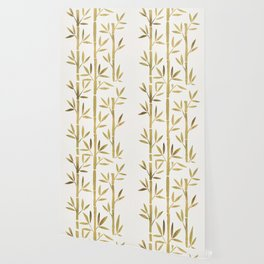 Bamboo Stems – Gold Palette Wallpaper