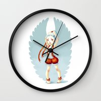 dancer Wall Clocks featuring Dancer by Freeminds