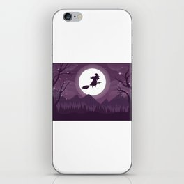 Scary Witch Happy Halloween iPhone Skin