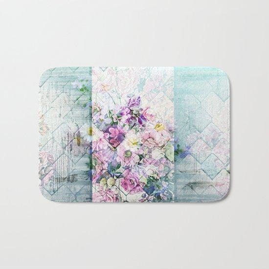 Pastel Daisies Quilt Bath Mat