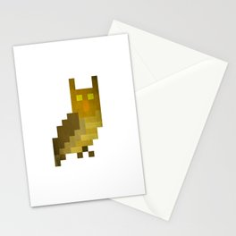 Pixel owl Stationery Cards