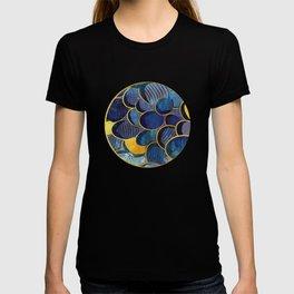 Abstract deep blue T-shirt