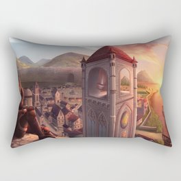 Above The Town Rectangular Pillow