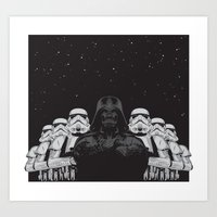 animal crew Art Prints featuring The crew by Roland Banrevi