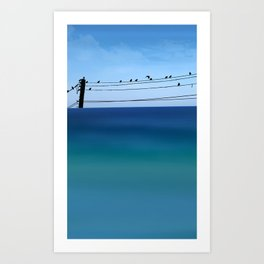Cretan Sea & Birds I Art Print