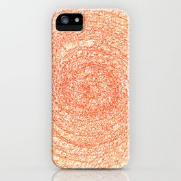 An Orange Wishes, asemic calligraphy for home and office decoration iPhone Case