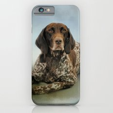 Waiting For A Cue - German Shorthaired Pointer iPhone 6 Slim Case