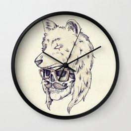 WOLF HAT Wall Clock