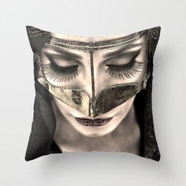 Neqab Portrait Throw Pillow