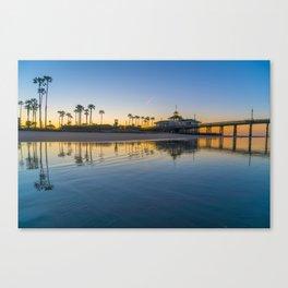 Wet Sand Sunrise Canvas Print