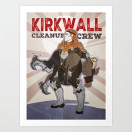 DA2 - Kirkwall Cleanup Crew Art Print