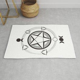 Elemental Pentagram Rug