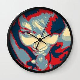 NSFW! Adult art, Obama style Christmas Blowjob poster, erotic, kinky, dirty Wall Clock