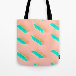 Neon Abstract Pasta Noodles Pattern (Color) Tote Bag