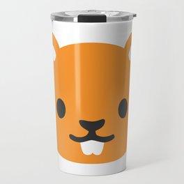 Chipmunk Face Emoji Travel Mug