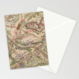 Vintage Map of The Battle of Chantilly (1865) Stationery Cards