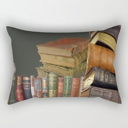 DECORATIVE  ANTIQUE LIBRARY, LEDGERS &  BOOKS ART Rectangular Pillow